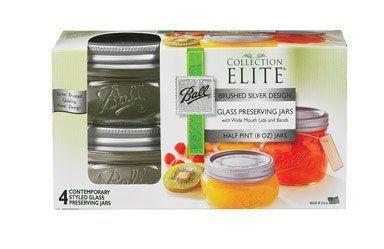 Amazon.com: Jarden Home Brands 4Pk 8Oz Platinum Jar 1440061162 Canning Jars: Kitchen & Dining