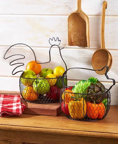 Country Countertop Baskets Country Kitchen Counters Vegetable
