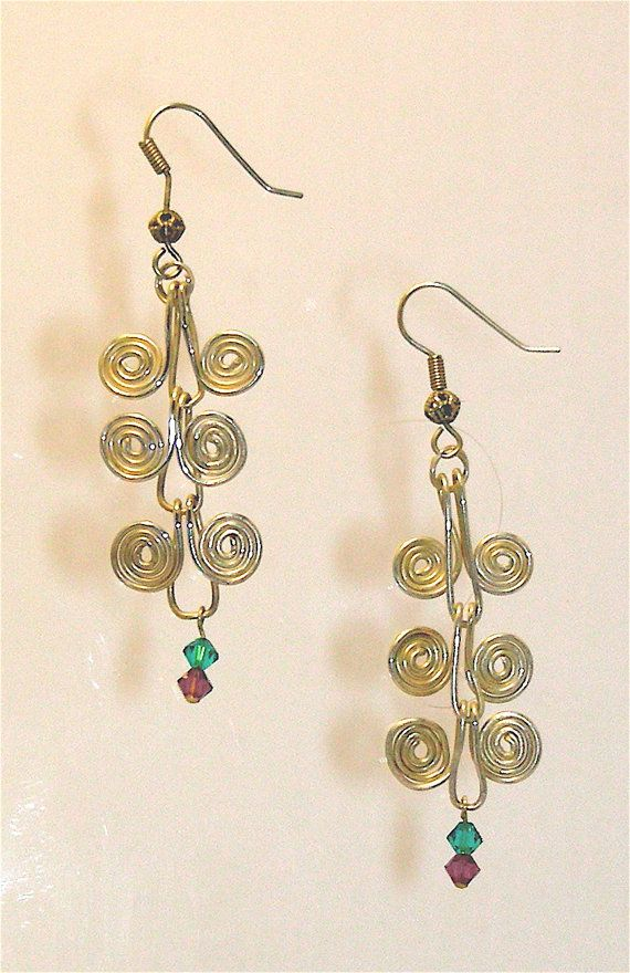 Jewelry Earrings 2.75 inches 3 SidebySide by MedicinalJewelry, $80.00