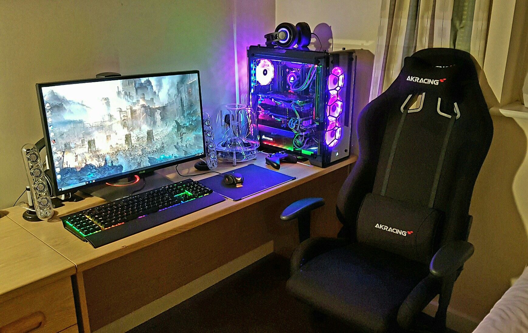 cheap most pc best desk table for computer gaming notch top gamer professional ingenuity corner white in