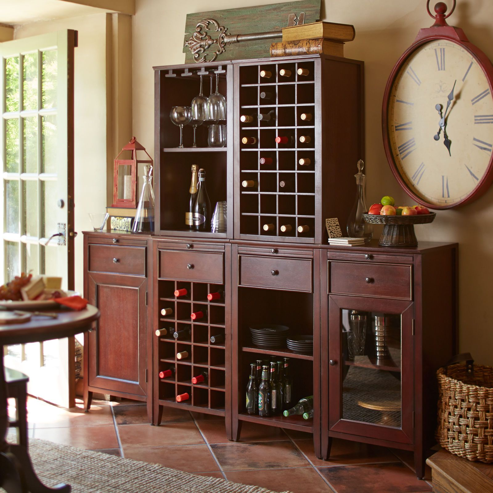 build your own wells wine cabinet - mahogany | pier 1 imports | bar