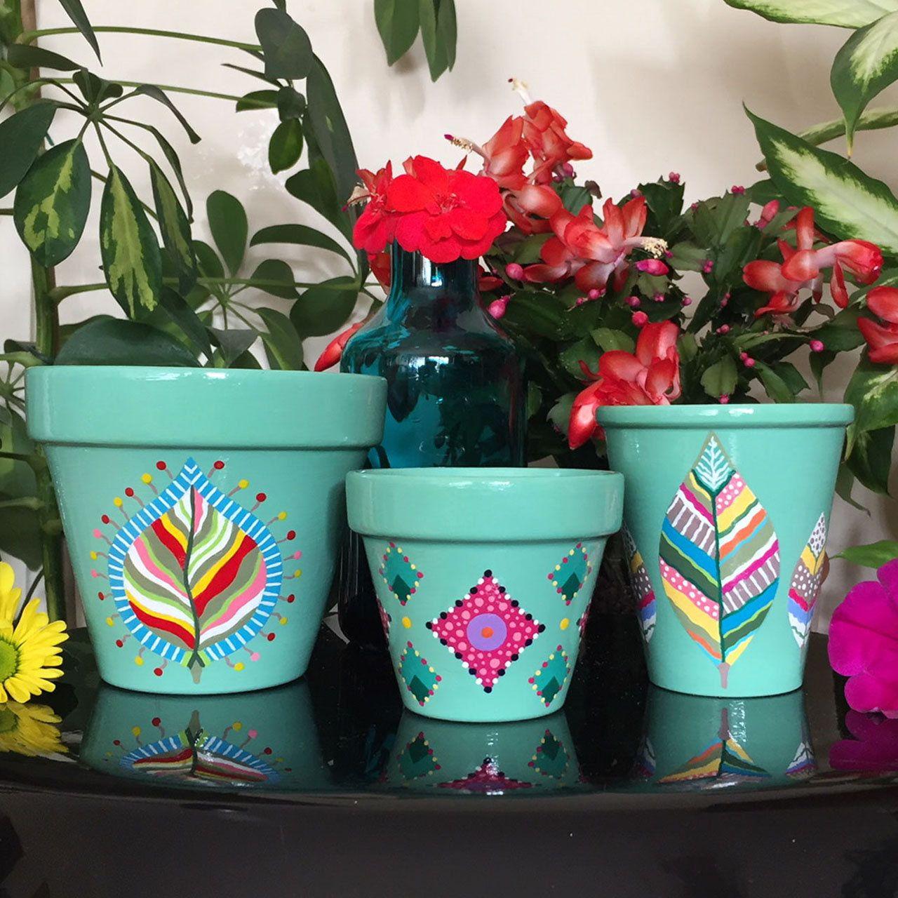 Pot De Fleurs Cache Pot Jardiniere Cactus Clay Flower Pots