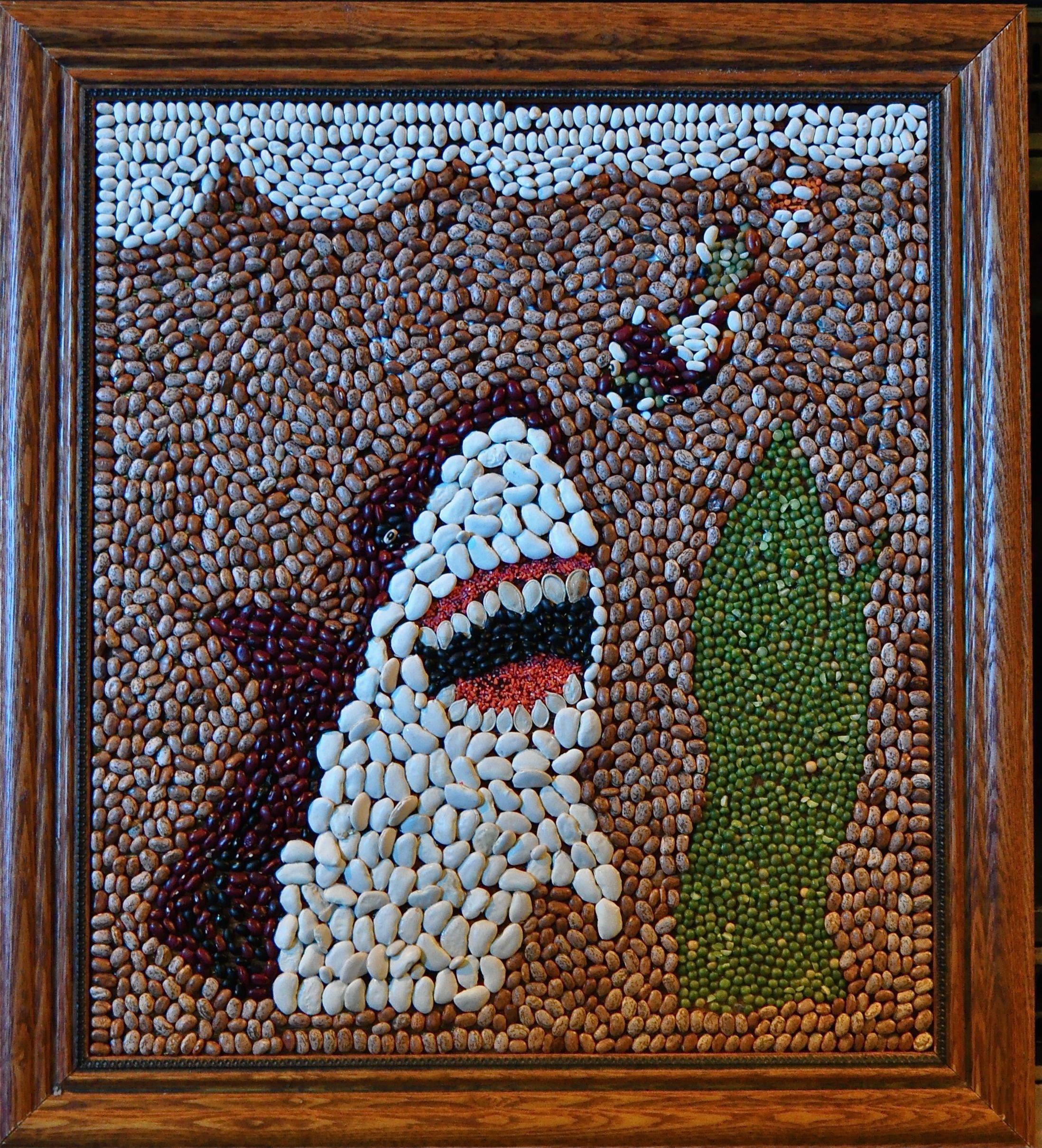 Bean and seed mosaic