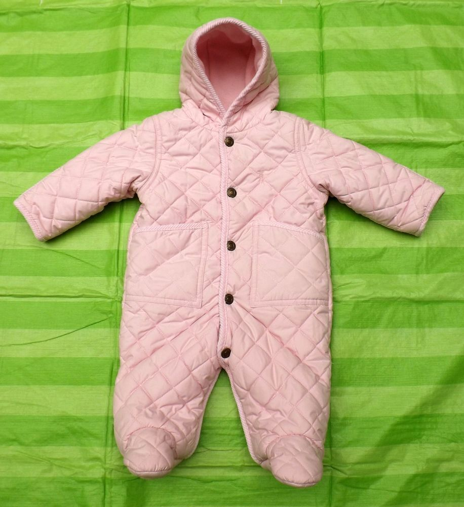 2d6dd991e Polo Ralph Lauren Baby Girl' Quilted Barn Footed Bunting Snowsuit 6M Infant  $115 #RalphLauren #Snowsuit #Everyday
