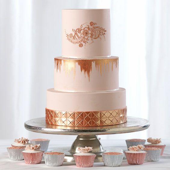 Rose Gold Wedding Cake | Rose gold wedding cakes, Cake ...