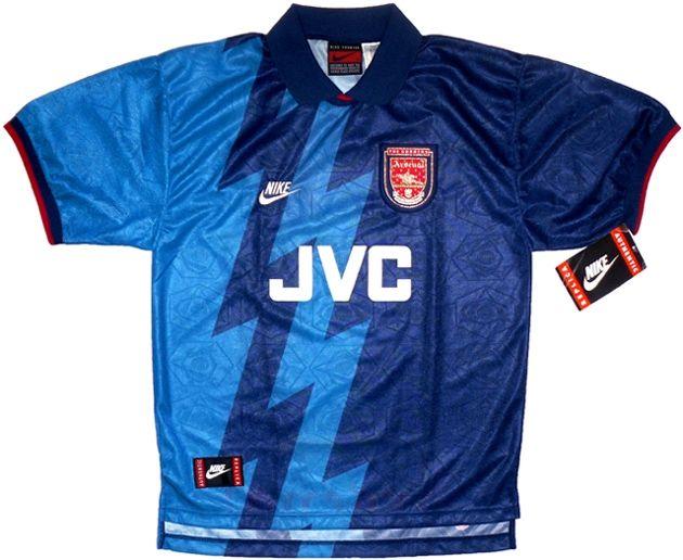Resultado de imagen para arsenal 1996 away kit