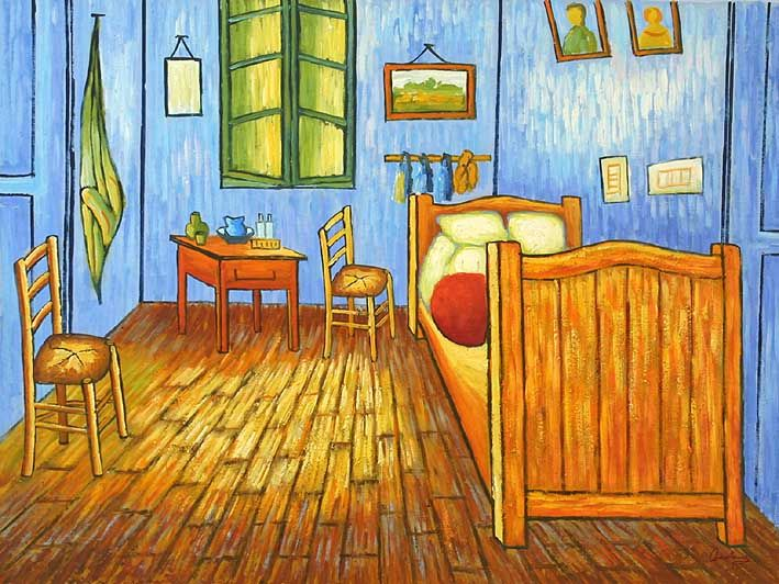 An Goghs Bedroom in Arles oil paintings on canvas   Van Gogh  oil paintingsan Goghs Bedroom in Arles oil paintings on canvas   Van Gogh  oil  . The Bedroom Van Gogh Painting. Home Design Ideas