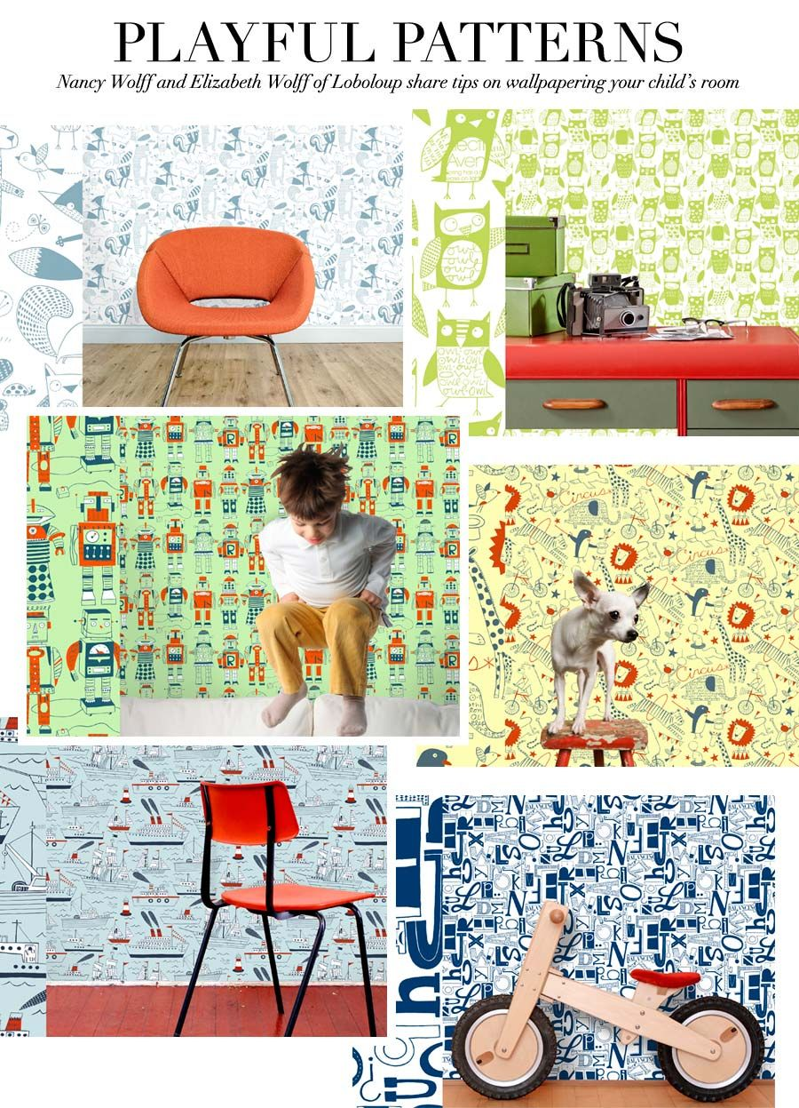 V103 Expert Style Tips Five Tips On Incorporating Wallpaper Into Your Child S Room By Nancy Wolff And Elizabeth Wolff Loboloup Ceci Style Kids Room Children Room