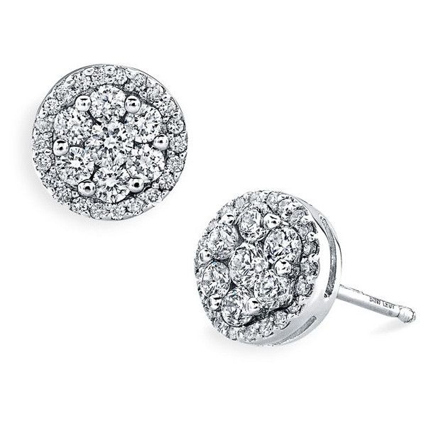 a13c882f3 Bony Levy 'Flower' Button Diamond Earrings (Nordstrom Exclusive) found on  Polyvore