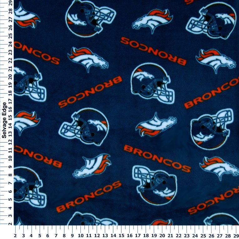For Chris's blanket NFL Denver Broncos Blue Fleece Fabric