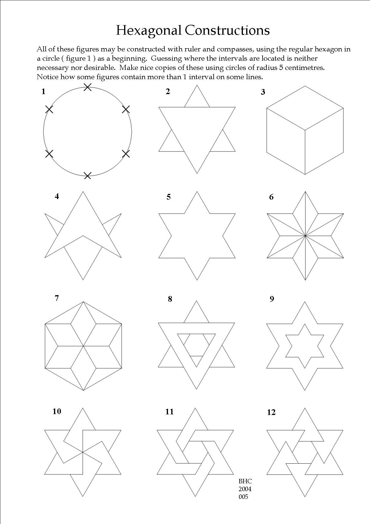 A Drawing Exercise For Beginners In Geometry