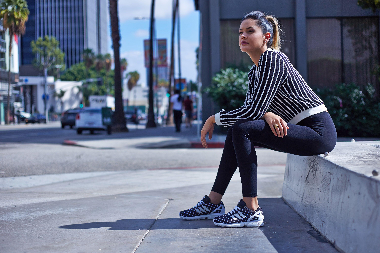 zx flux adidas on feet