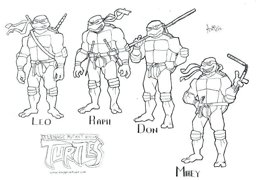 Ninja Turtles Coloring Page Ninja Turtles Coloring Pages Leonardo Ninja Turtle Ninja