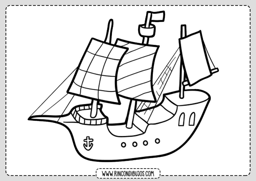 Barco Pirata Dibujo Colorear Rincon Dibujos Barcos Para Colorear Dibujo De Barco Barcos