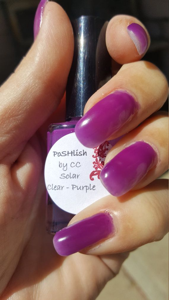 Unique Solar Color Changing Clear Purple Nail Polish By Poshlish