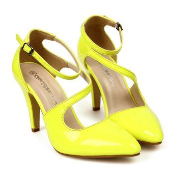 $22.37 Sexy Pointed Toe and Patent Leather Design Women's Pumps