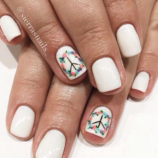 Peace Nails Nails Pinterest Nails Nail Art And Wedding Nails