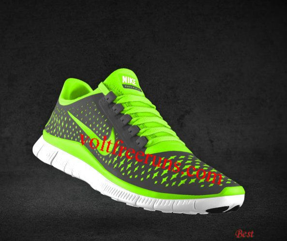 2d31836d288d Cheapest Mens Nike Free 3.0 V4 Dark Grey Electric Green Wolf Grey  Fluorescent Green Lace Shoes