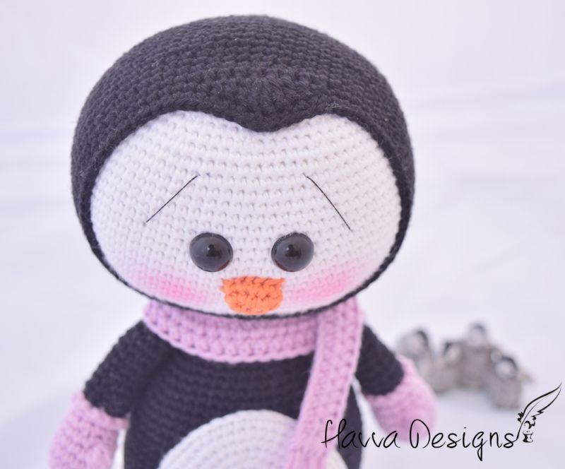Cute Penguin amigurumi pattern by Havva Designs | Kuscheltiere
