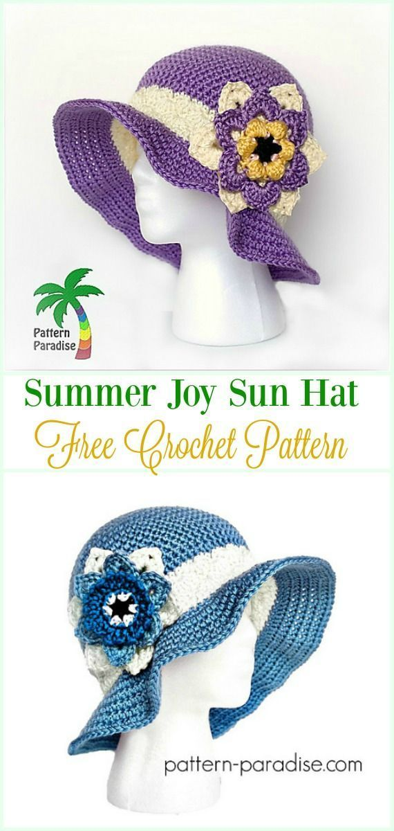 Crochet Girls Sun Hat Free Patterns Instructions | Crochet ...