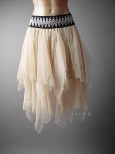 20dd812fb Ivory-Tulle-Fairy-Nymph-Ballerina-Handkerchief-Tutu-Full-236-mv-Skirt-S-M-L- XL