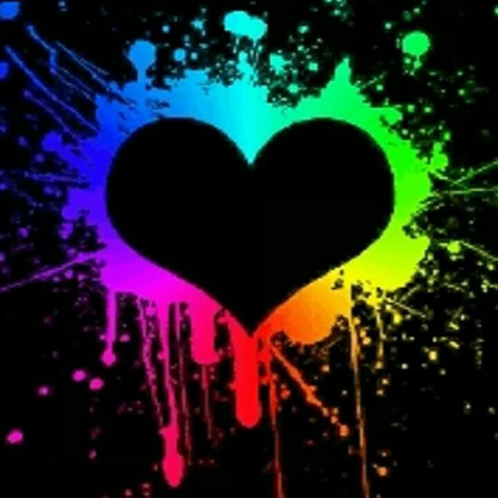 Black Neon Wallpaper Rainbow Colors