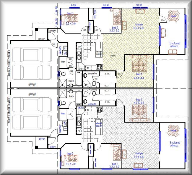 Australian Plan no :376 - 6 Bedroom Duplex Design | duplex builders ...