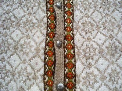 """Ladies Vintage Norwegian Style Hand Knitted Wool Cardigan Bust 38"""" 40""""   eBay"""