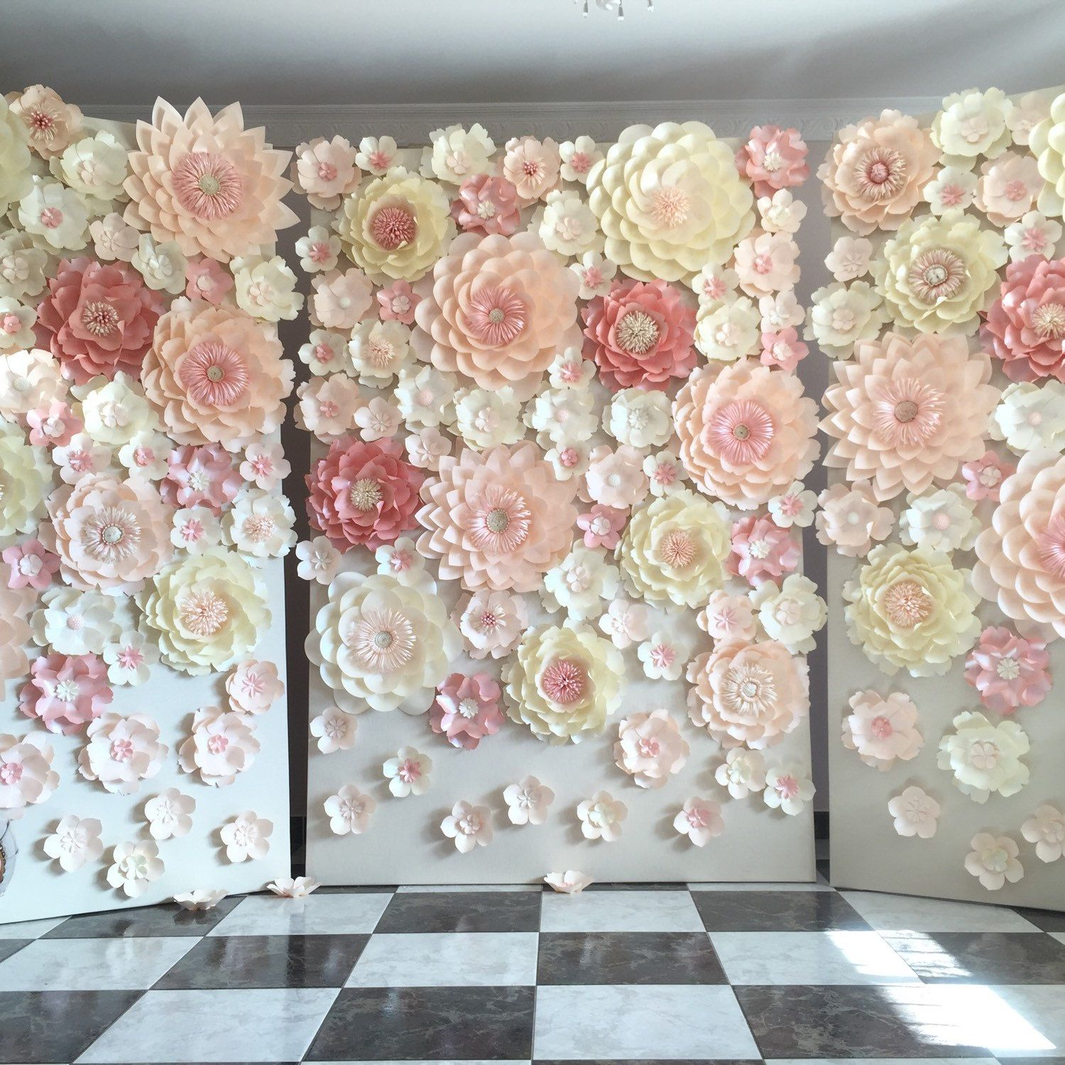 Planning A Wedding Or Any Other Special Event Paper Flower Backdrop