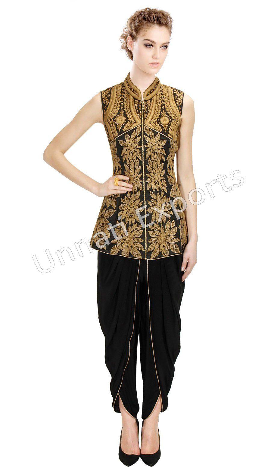 30cb5386b892 Amazon.com  Unnati Women s Dhoti Style Heavy Embroidery Readymade ...