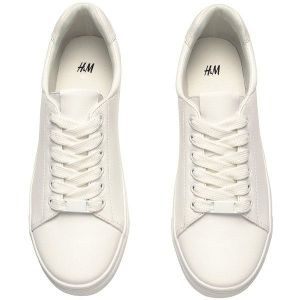 White shoes sneakers, H\u0026m shoes, Sneakers