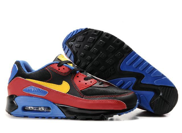sports shoes cec6b 95c48 Ken Griffey Shoes Nike Air Max 90 Black Red Blue Yellow  Nike Air Max 90 -  Certainly the colorful performance Nike Air Max 90 Black Red Blue Yellow  shoes ...