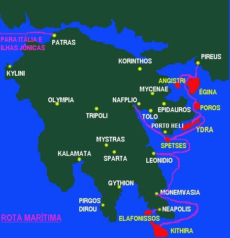 peloponeso mapa Guia Grecia   Mapa (Peloponeso) | Peloponeso | Pinterest peloponeso mapa