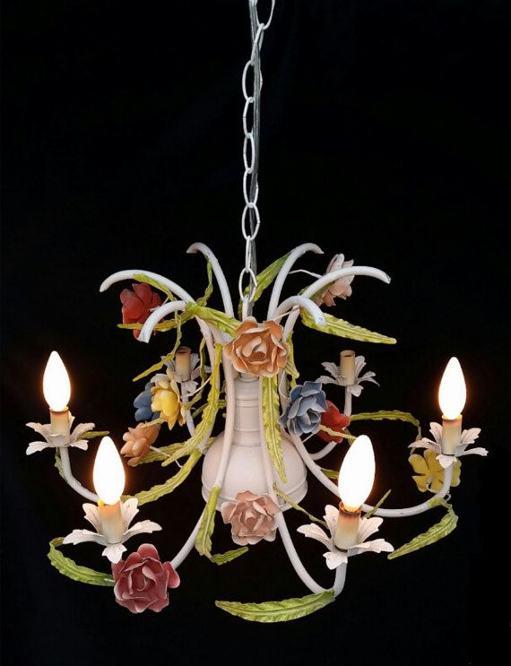 Super Floral Tole Chandelier New Wiring Vintage Large Swag Light Italian Wiring Database Aboleterrageneticorg
