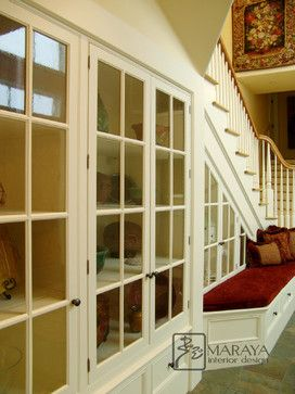 Best Cape Cod Entry Cabinetry Staircase Traditional 400 x 300