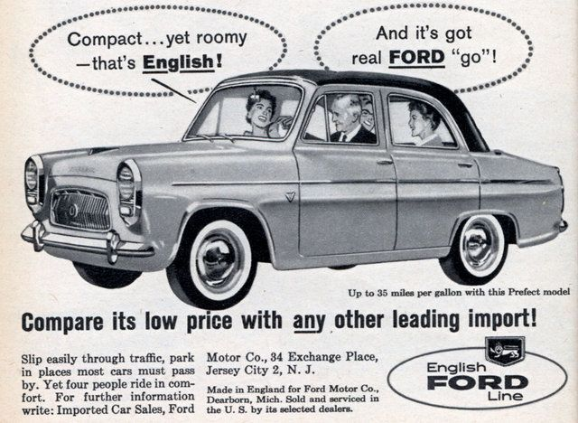 Compact Yet Roomy That S English Modern Mechanix Ford Anglia Old Classic Cars Old Lorries