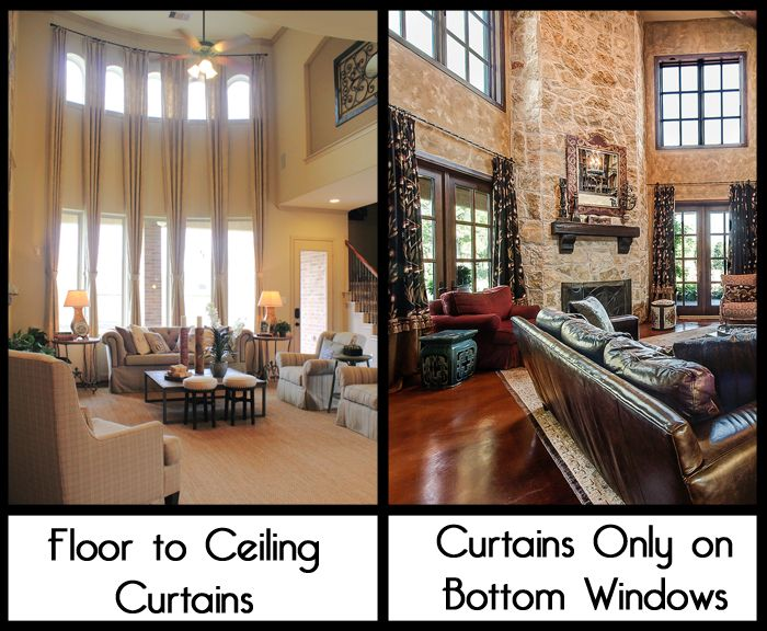 How To Hang Curtains Or Drapes When You Have A 2 Story Room That Is Open