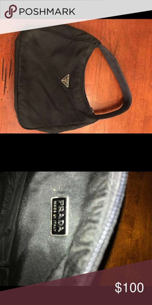 e85a28c0589f Real black mini Prada bag Small night bag for all occasions. Bought at  Foxwoods about 5 years ago