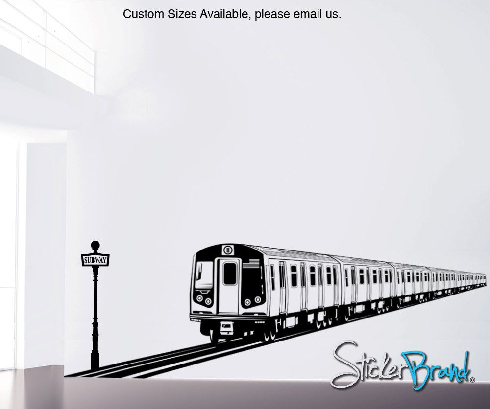 Vinyl Wall Decal Sticker Nyc Train Item Oses107s Decals