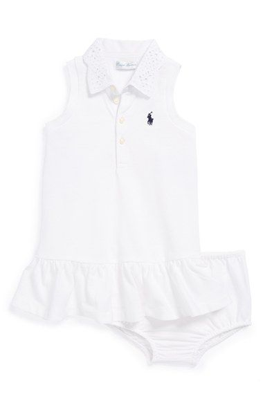 7a44e3388 Ralph Lauren Sleeveless Polo Dress & Bloomers (Baby Girls) available at  #Nordstrom