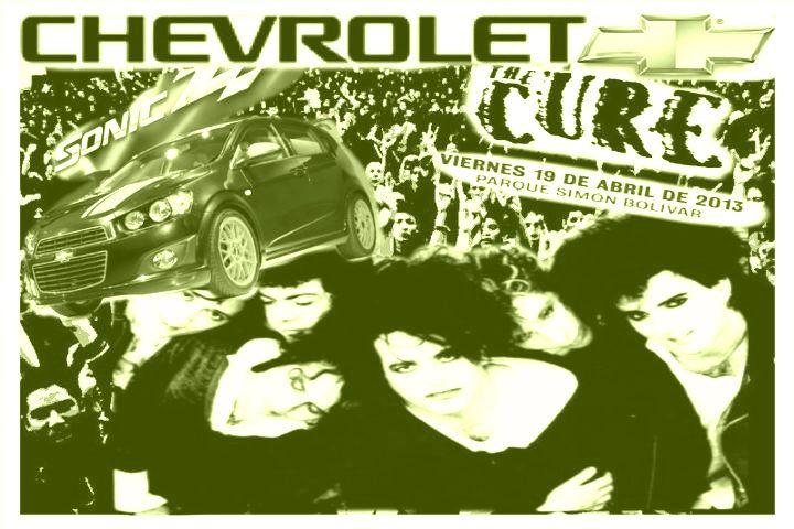 Amigos de Chevrolet Colombia los invito al mejor concierto y el mas esperado. ''The Cure'' en Bogotá este 19 de Abril Parque Simón Bolívar. #TheCureDeGiraxChevrolet @Chevrolet Colombia