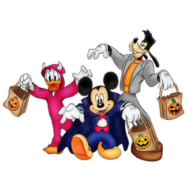 Mickey mouse and friends halloween clipart 600 600 - Disney halloween images ...