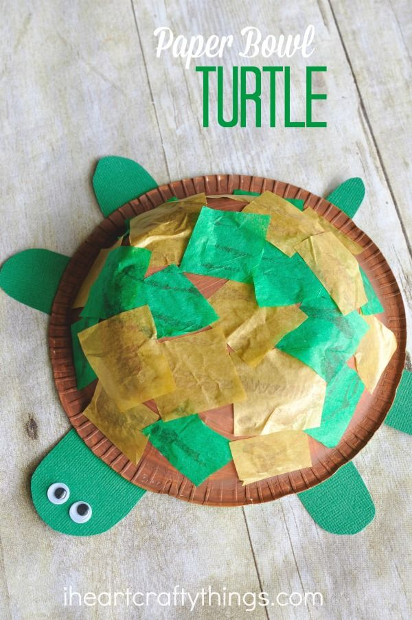 Paper Bowl Turtle Craft  Kids Crafts  FirstPalettecom