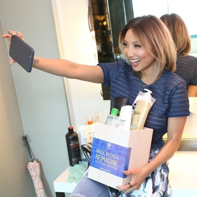 I've been loving all the diff pics you guys have been posting to WIN for recycling ❤️‍ (And I secretely feel better for not being the only product hoarder out there ) Join me and @UnileverUSA by taking a pic of your cute self recycling your plastic bottles in the bathroom and post with hashtag #Reimaginethat #sweeps. Lets see you win!