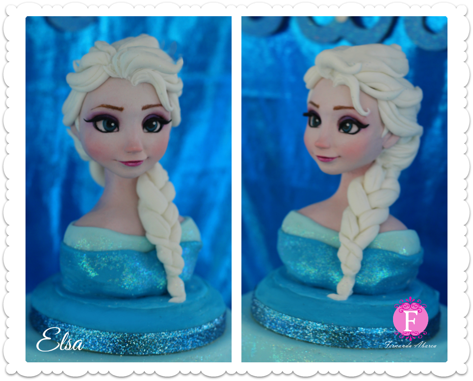 Queen Elsa Cake Decorations : Queen Elsa made of fondant for my daughter. . #frozen # ...