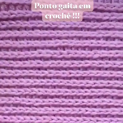 Photo of Como fazer ponto gaita em crochê.
