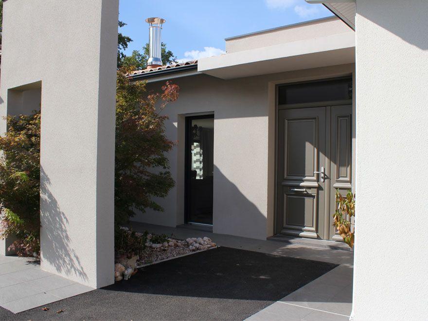 Belle Maison Contemporaine Igc : Porche D'Entrée | Maisons