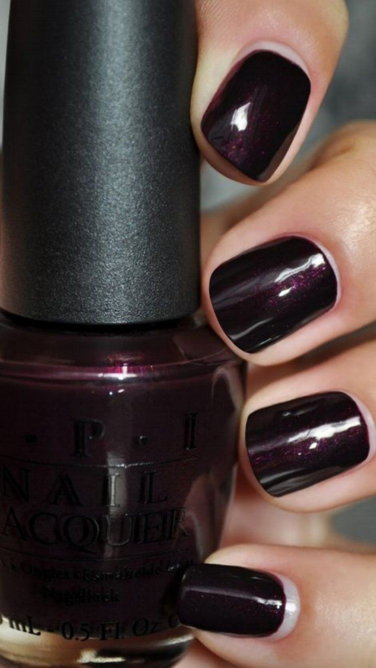 Black Cherry Chutney Nails Nail Polish Nail Colors Dark Nails