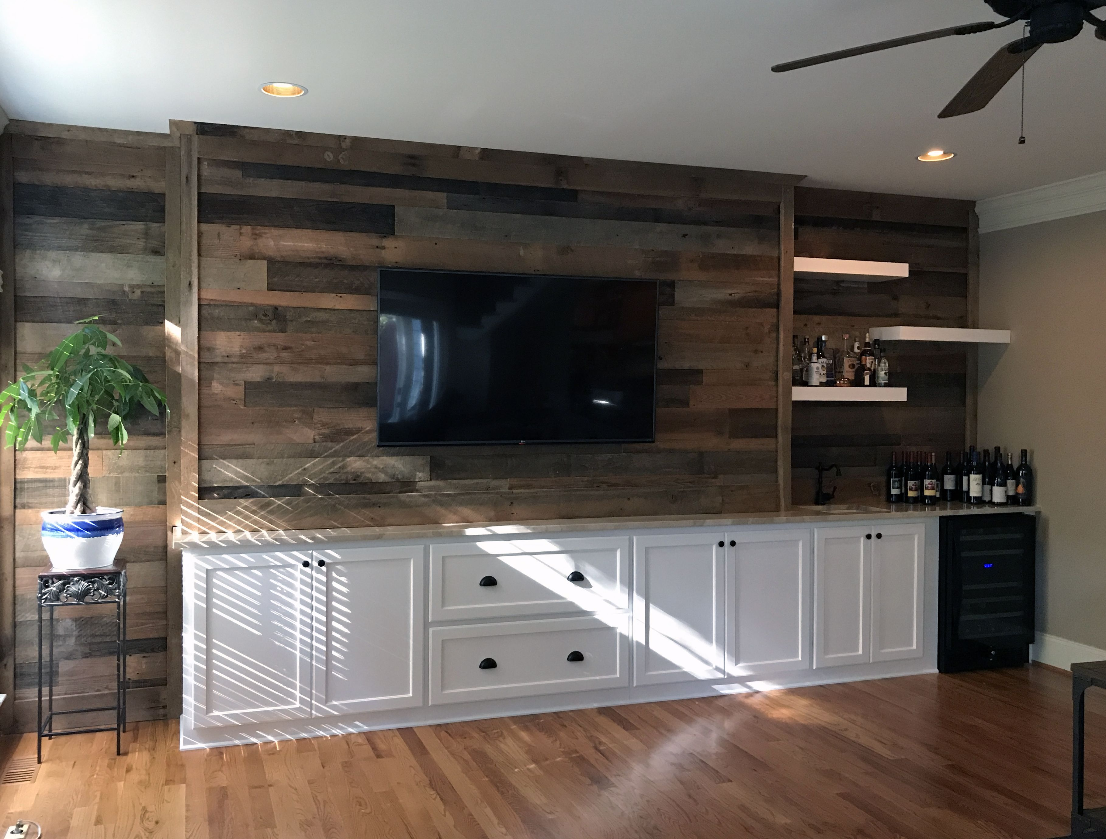Custom Lower Shaker Style Cabinets And Drawers With A Reclaimed