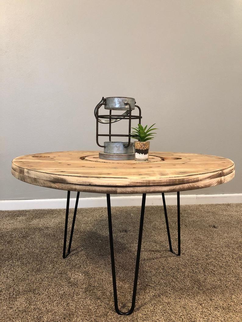Spool Coffee Table Rustic Spool Table Reclaimed Wood Table Etsy Reclaimed Wood Table Spool Tables Wooden Spool Tables [ 1059 x 794 Pixel ]